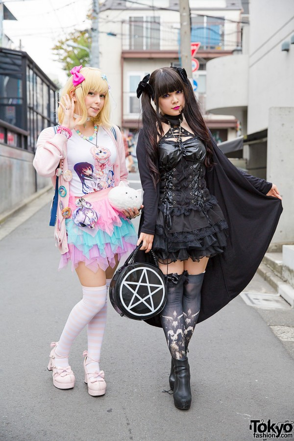 Harajuku Girls in Gothic & Pastel Fashion