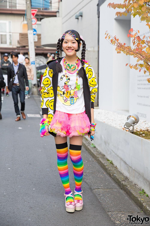 Harajuku Decora Girl In 90884 Top, Super Lovers Jacket