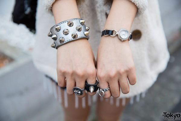 Studded Bracelets & Rings