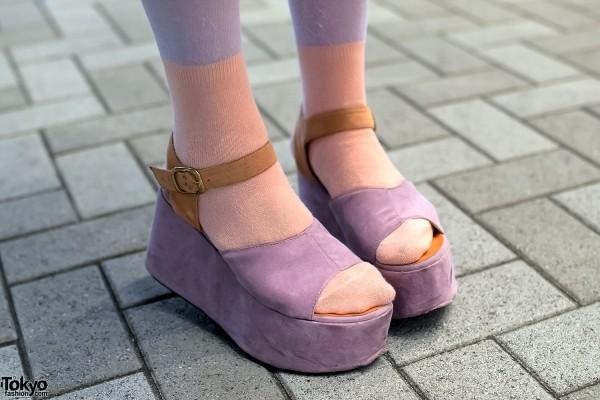 Purple Platform Sandals