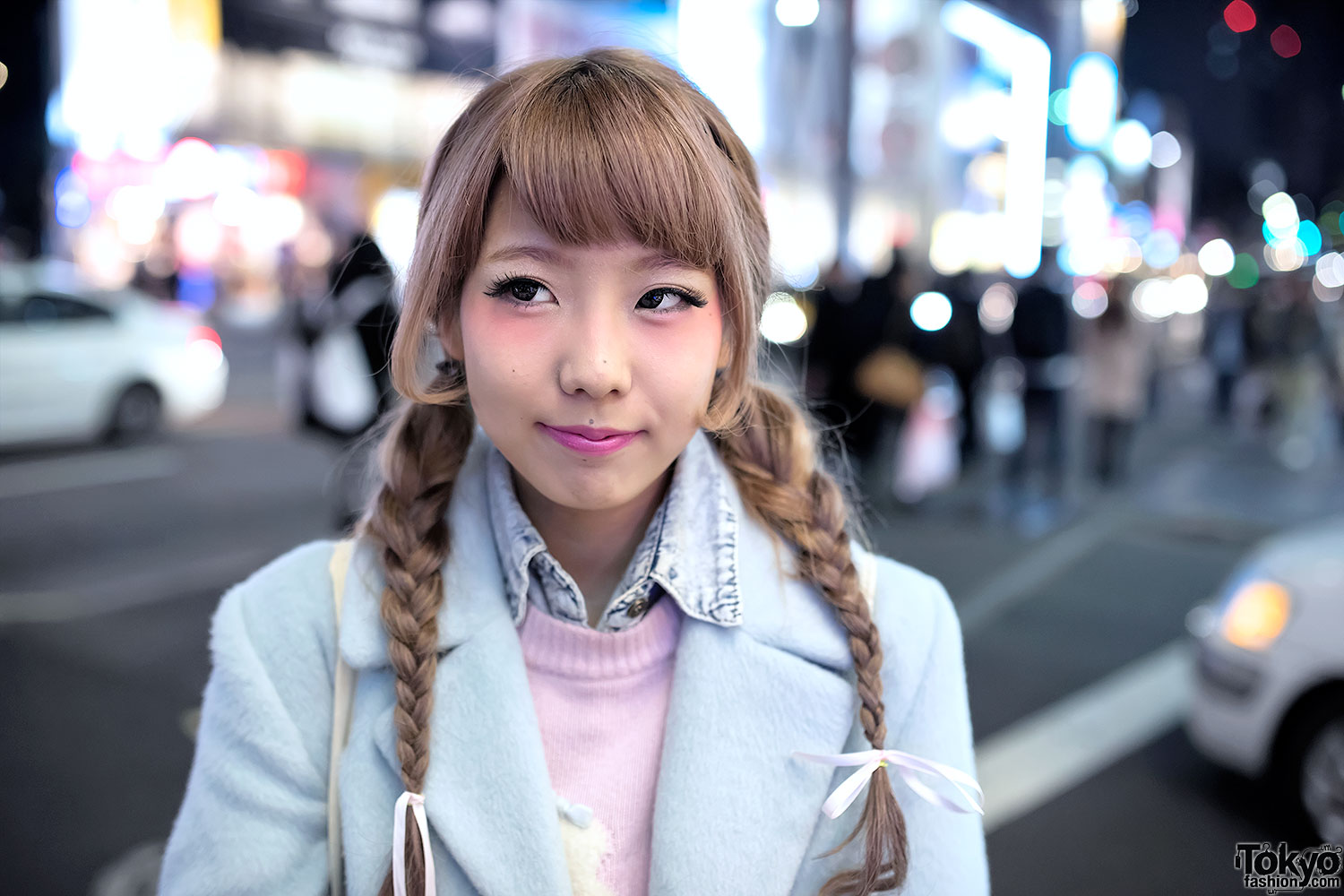 Baby Blue Coat Flying Tiger Bag Amp Twin Braids Hairstyle
