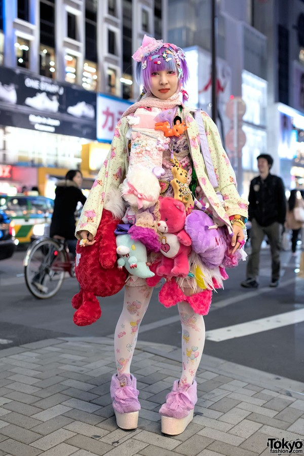 Harajuku Designer w/ Plush Toys Skirt, 6%DOKIDOKI, Swankiss & Kawaii Accessories