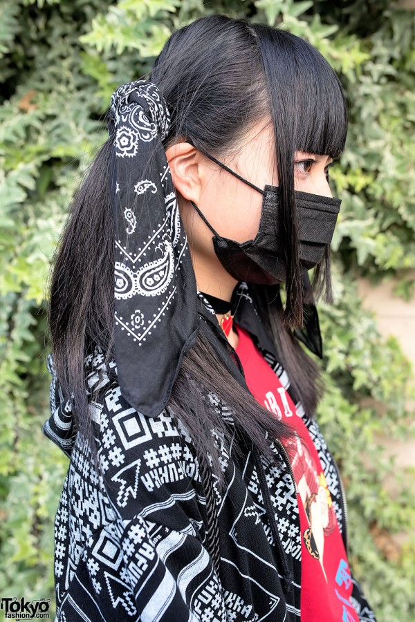 Bandana Twintails Barcode Jacket Amp Platform Sneakers In