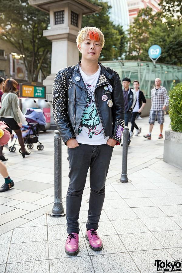 Punk Meets Akihabara Leather Biker Jacket Amp Pink Dr