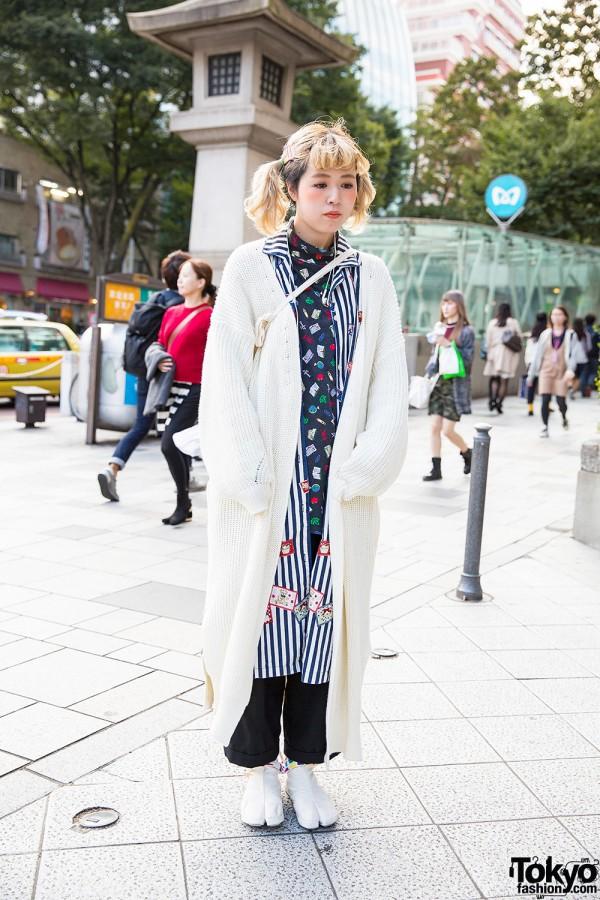 Twin Tails & Layered Fashion w/ Sou-Sou Tabi Shoes in Harajuku