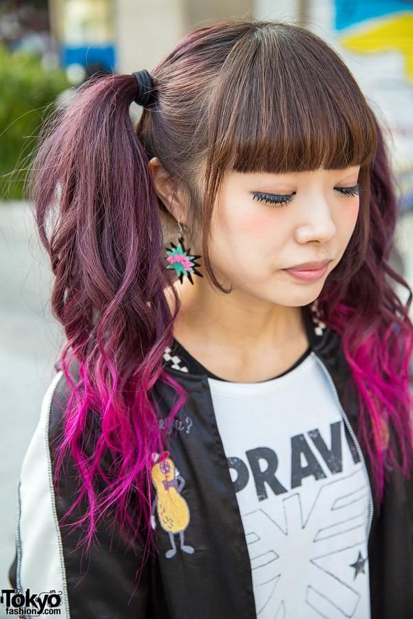 Dip Dye Twin Tails