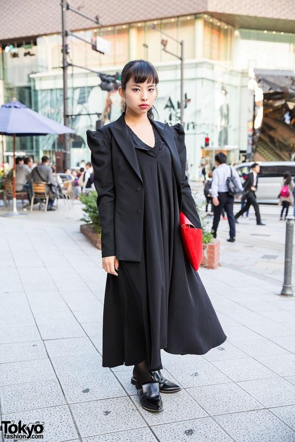 All Black Yohji Yamamoto Street Style