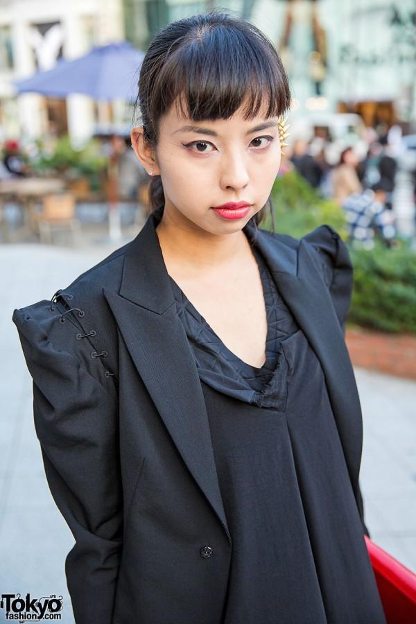 Yohji Yamamoto Blazer With Shoulder Pads