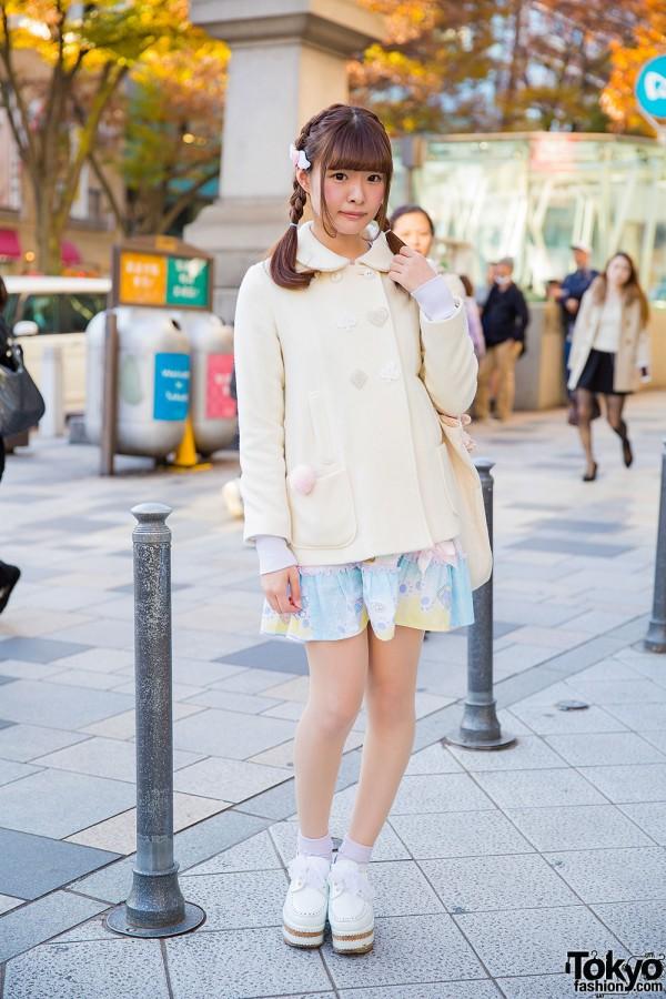 Cute Milk Harajuku & Nile Perch Fashion w/ Unicorn Bag & Ribbon Laced Creepers