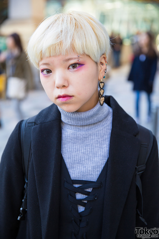 Short Blond Hair Amp Layered Outfit W San Biki No Koneko