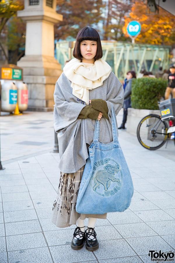 Issey Miyake Skirt in Harajuku