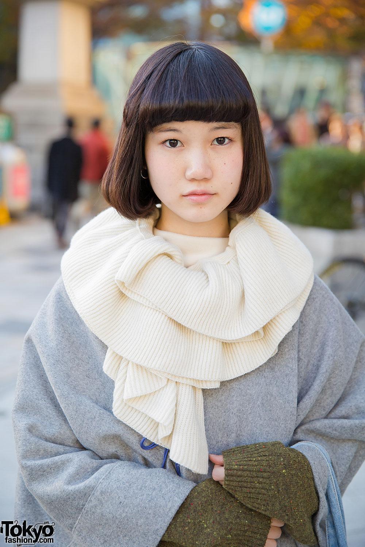 Sou Sou Coat, Issey Miyake Skirt, Hunting World & Dr. Martens in Harajuku