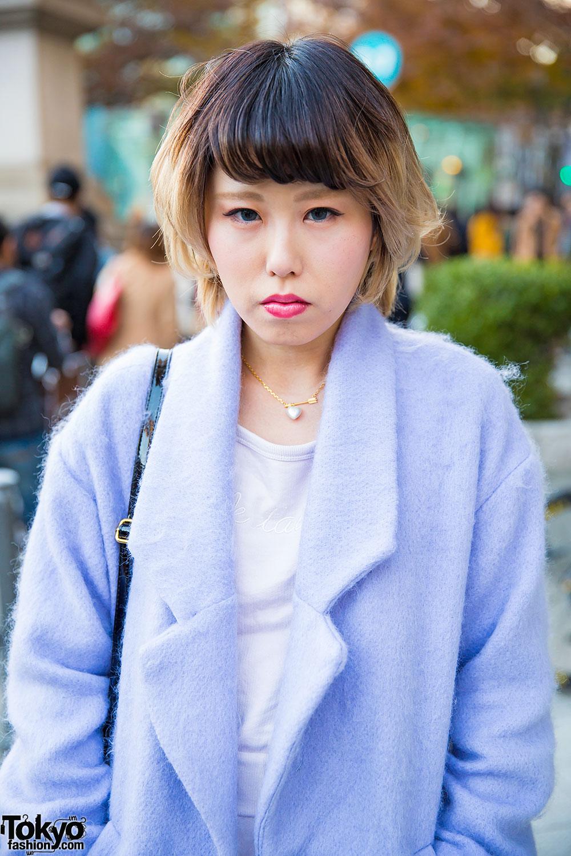Bubbles Harajuku Baby Blue Coat W E Hyphen World Gallery