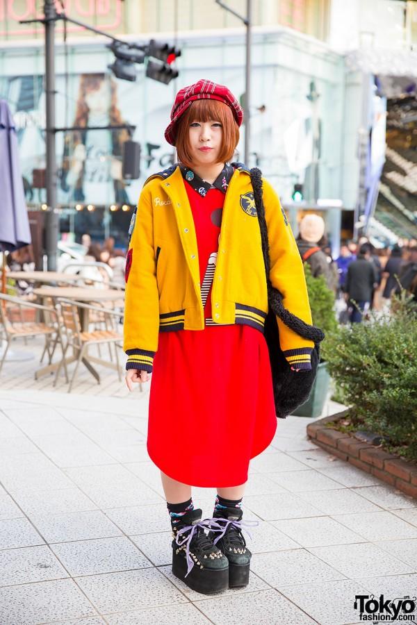 Cotton Candy Jacket,  WEGO Plush Bag & Spinns Harajuku Studded Platforms