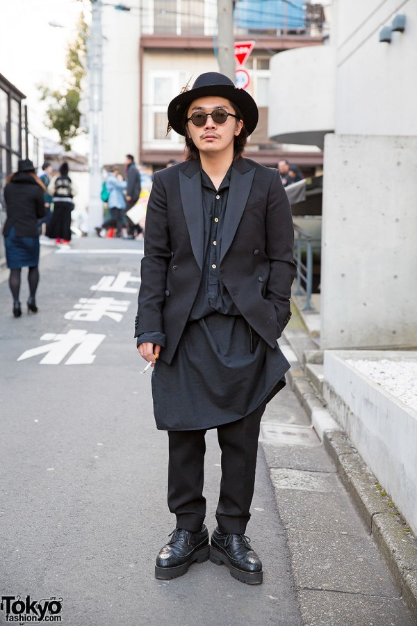 Art Comes First Suit & Hat w/ Banal Chic Bizarre Brogues in Harajuku