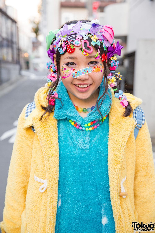 Harajuku Decora Girls W Hair Clips Tutus Plush Jackets