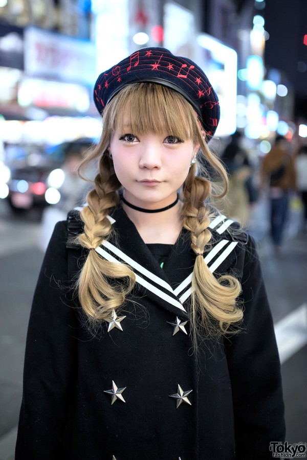 Harajuku Girl in Cute Candy Stripper Jacket