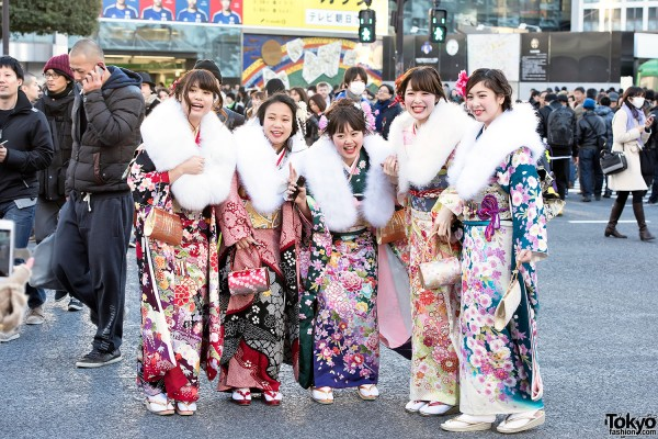 Coming Of Age Day in Japan Kimono (1)