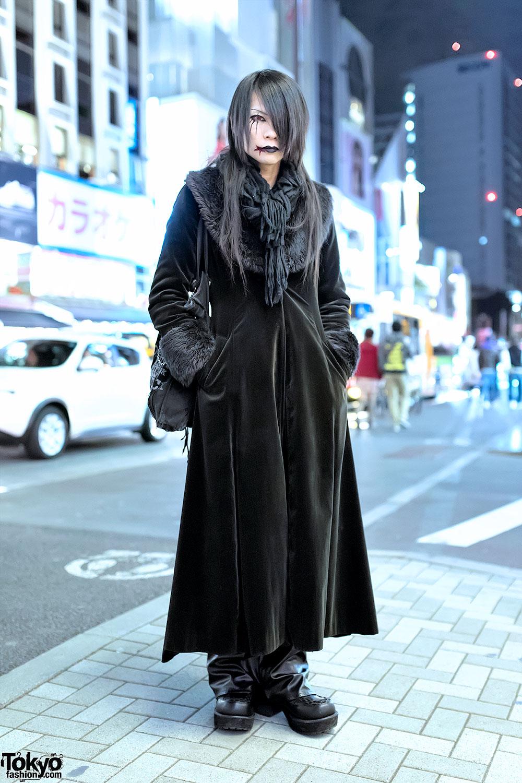 Harajuku Visual Kei Style W Black Peace Now H Naoto