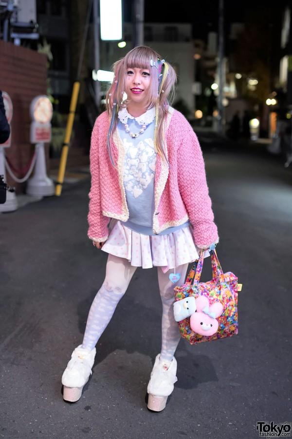 Harajuku Girl in Twintails w/ Kuma Top, Swankiss, 6%DOKIDOKI & Milklim