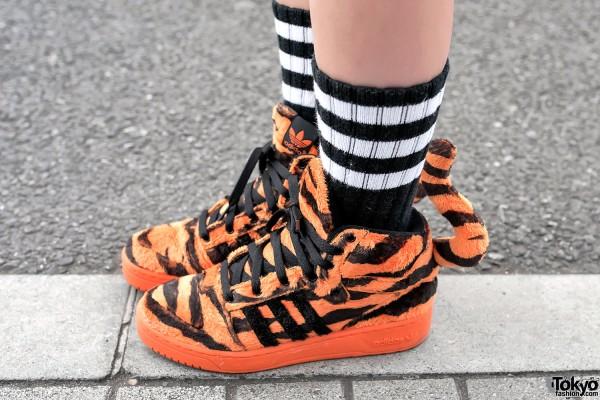 Jeremy Scott x Adidas Tiger Tail Sneakers