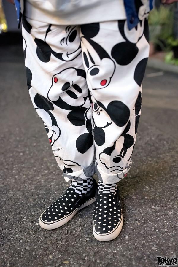 Mickey Mouse Pajama Pants & Slip-On Sneakers
