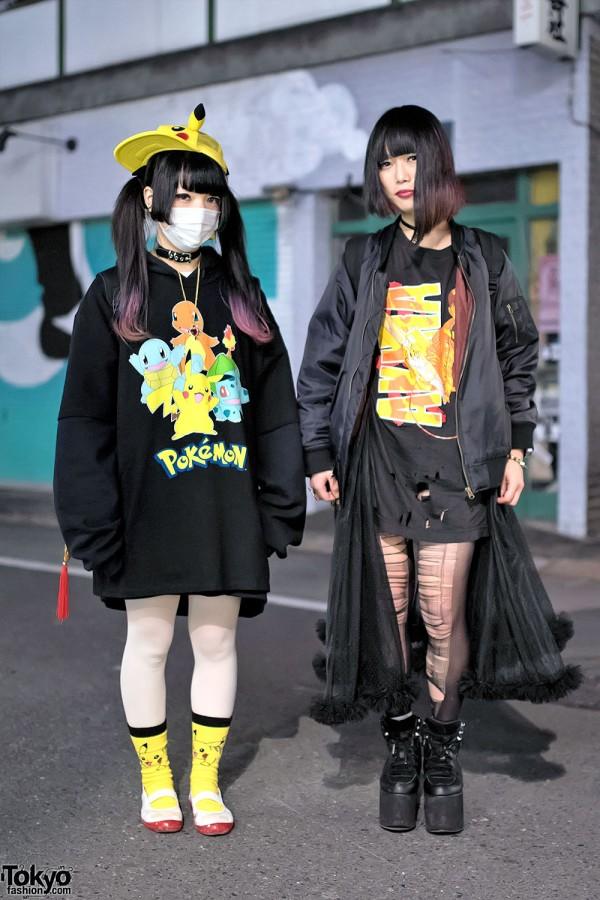 Harajuku Girls In Pikachu Akira Spinns Jeremy Scott