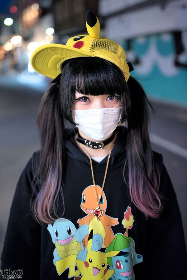 Dip Dye Twintails & Face Mask