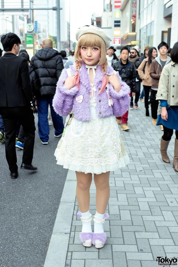 Swankiss Jacket, Katie Pins, YowaPeda Teddy Bear, WEGO & Bubbles Harajuku
