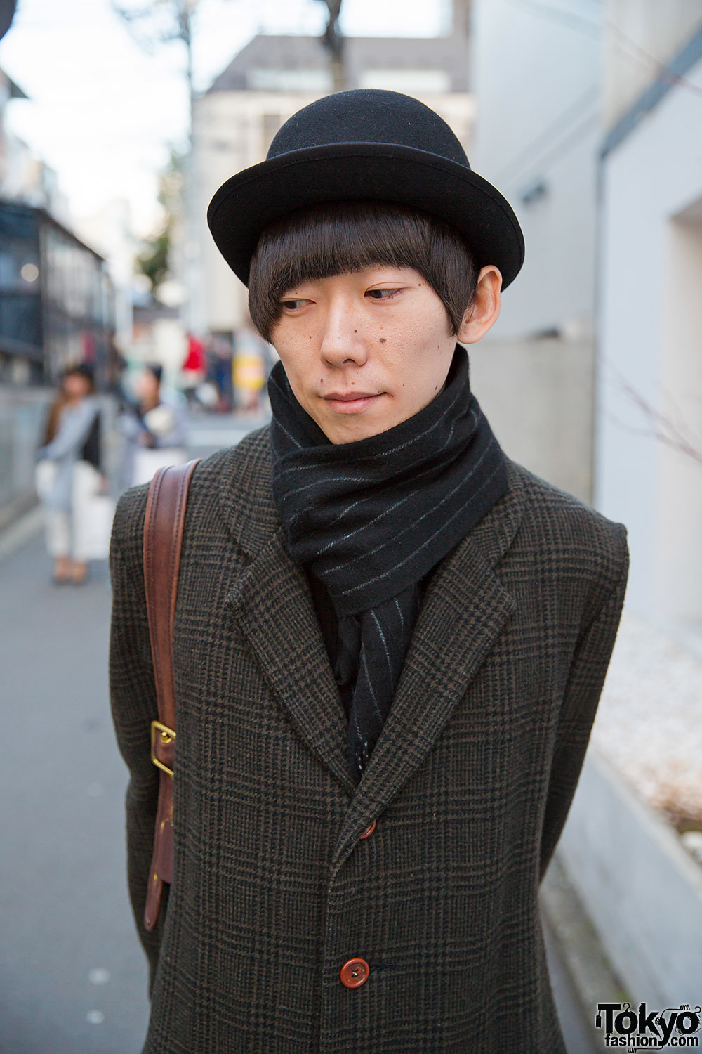 Harajuku Duo in Hats & Midi Coats w/ Christopher Nemeth & Comme des Garcons