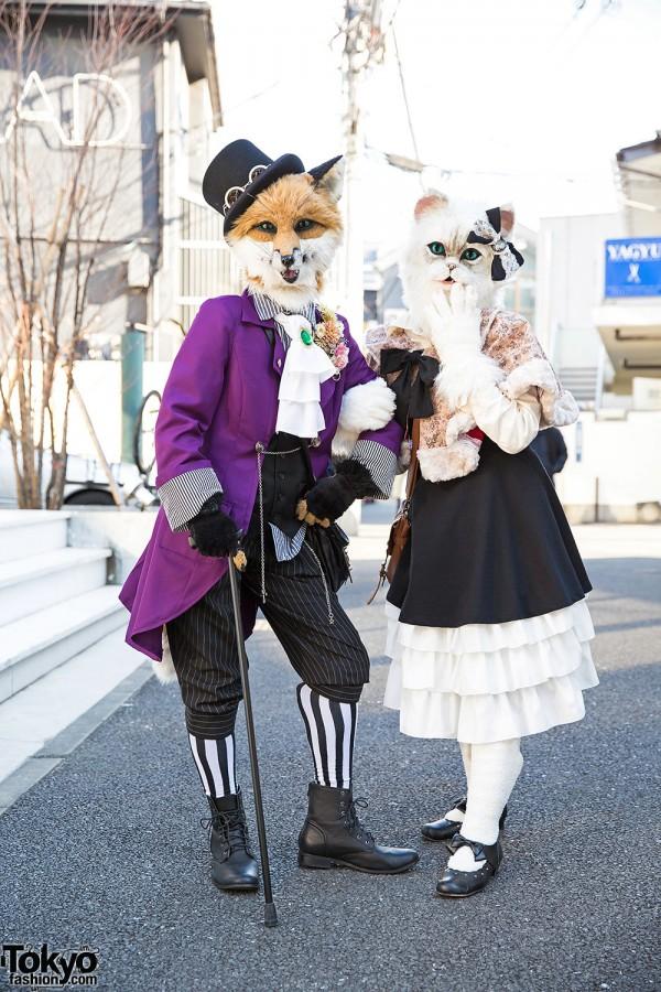 Harajuku Fox & Cat in Handmade Fashion, Body Line & Shimamura