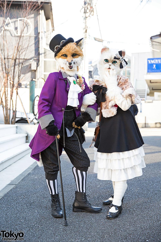Harajuku Fox Amp Cat In Handmade Fashion Body Line Amp Shimamura
