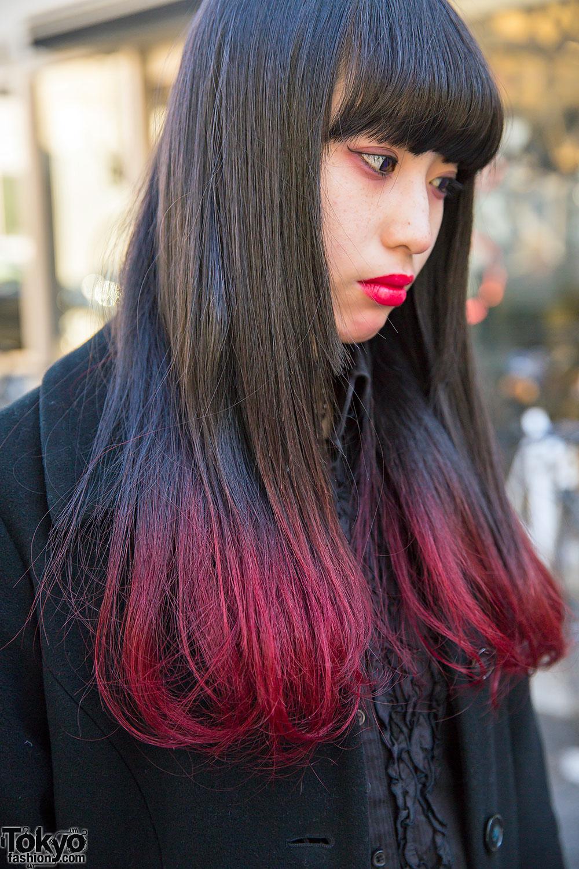 Black And White Dip Dye Black Red Dip Dye Hair