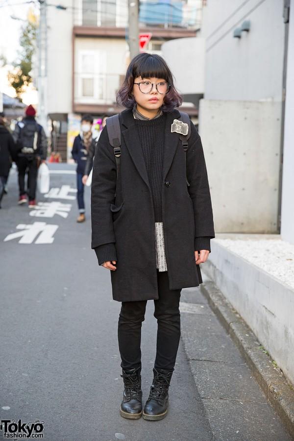 Harajuku Girl in WEGO Coat w/ Bunkaya Zakkaten & Spinns Accessories
