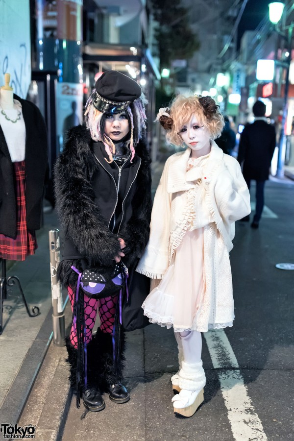 Cyber Goth & Shironuri Fashion in Harajuku