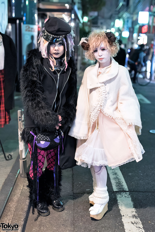 Shironuri Style & Cyber Goth On The Street In Harajuku