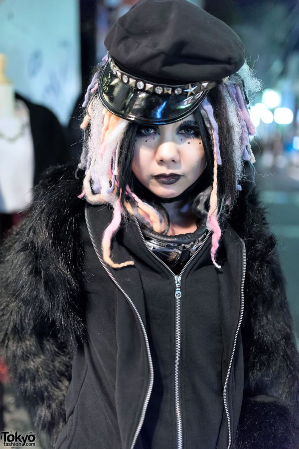 Cyber Goth Girl in Harajuku
