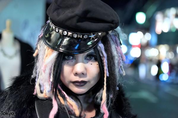 Handmade Cyber Goth Hair Falls Wig