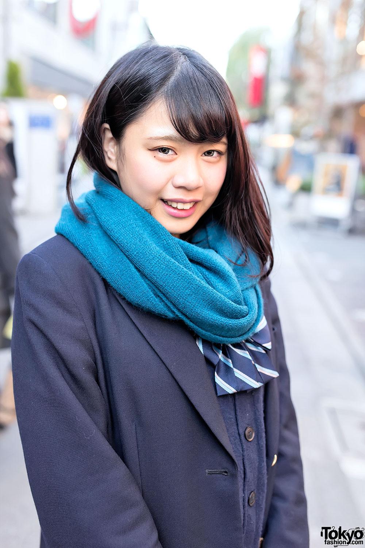 Asian school girl in uniform