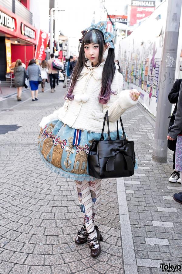 RinRin Doll on Takeshita Dori in Angelic Pretty & Milk Harajuku Fashion