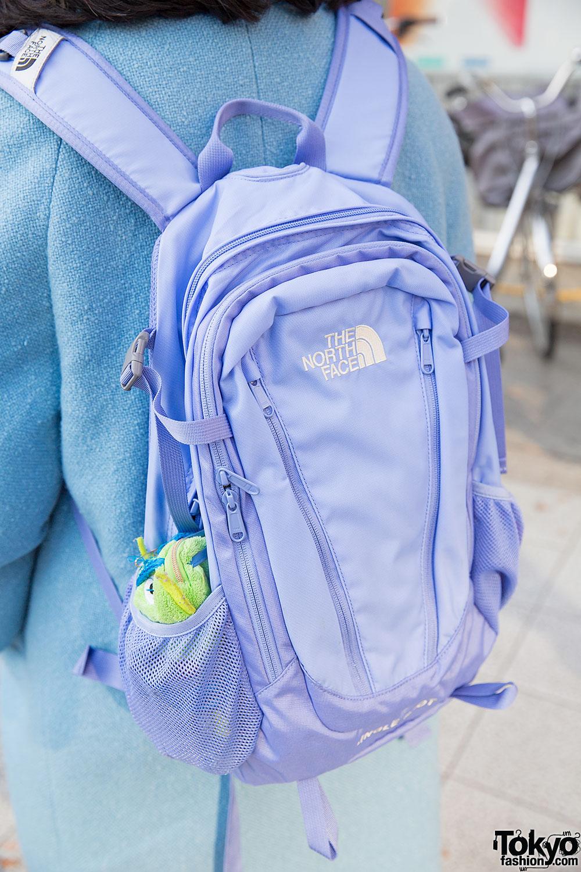 Pastel Blue Panama Boy Coat North Face Backpack