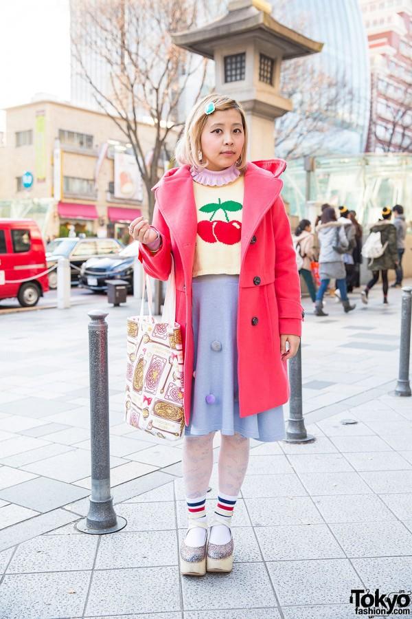 Very Brain Cherry Sweater & Honey Salon Skirt