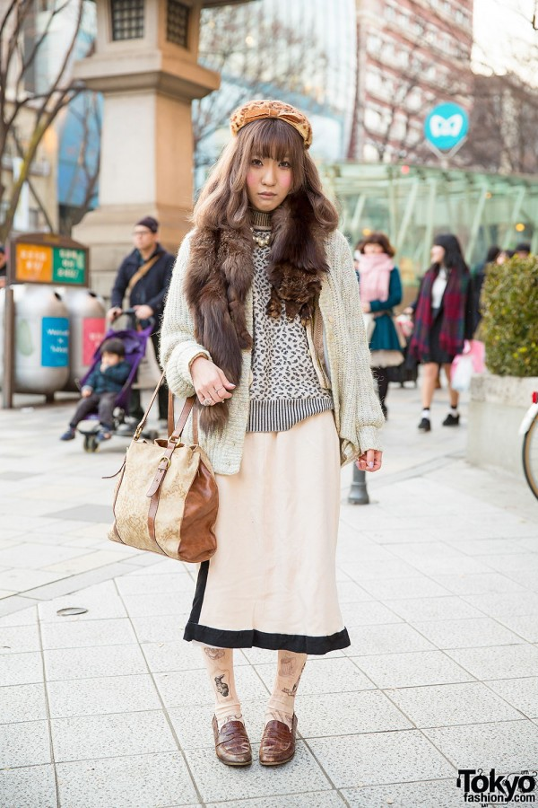 Animal Print & Fur Stole w/ Grimoire & Lochie in Harajuku