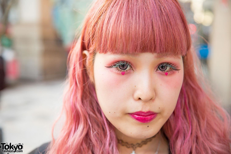 Pink Hair & Makeup W/ Plaid Dress, Jacket, Supreme