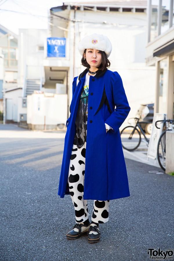 Pameo Pose Hat, Sankaku Harajuku Coat, New York Joe Exchange Top & Bubbles Choker