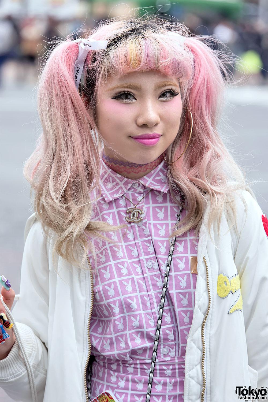 Pink Twin Tails Barbie Nails Joyrich Bubbles Amp Chanel