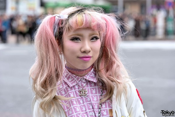 Twin Tails & Bangs Hairstyle in Shibuya