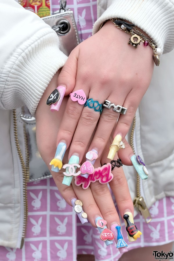 Barbie Japanese Nail Art