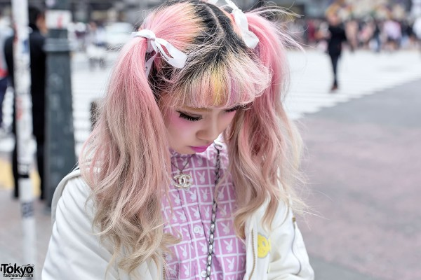 Yellow & Pink Bangs