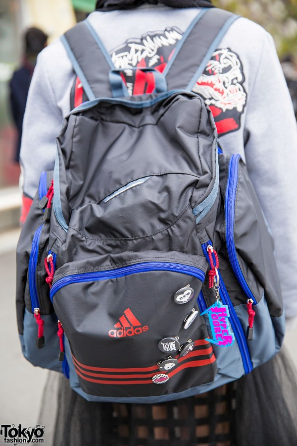 Adidas Backpack with Hyper Core Charm